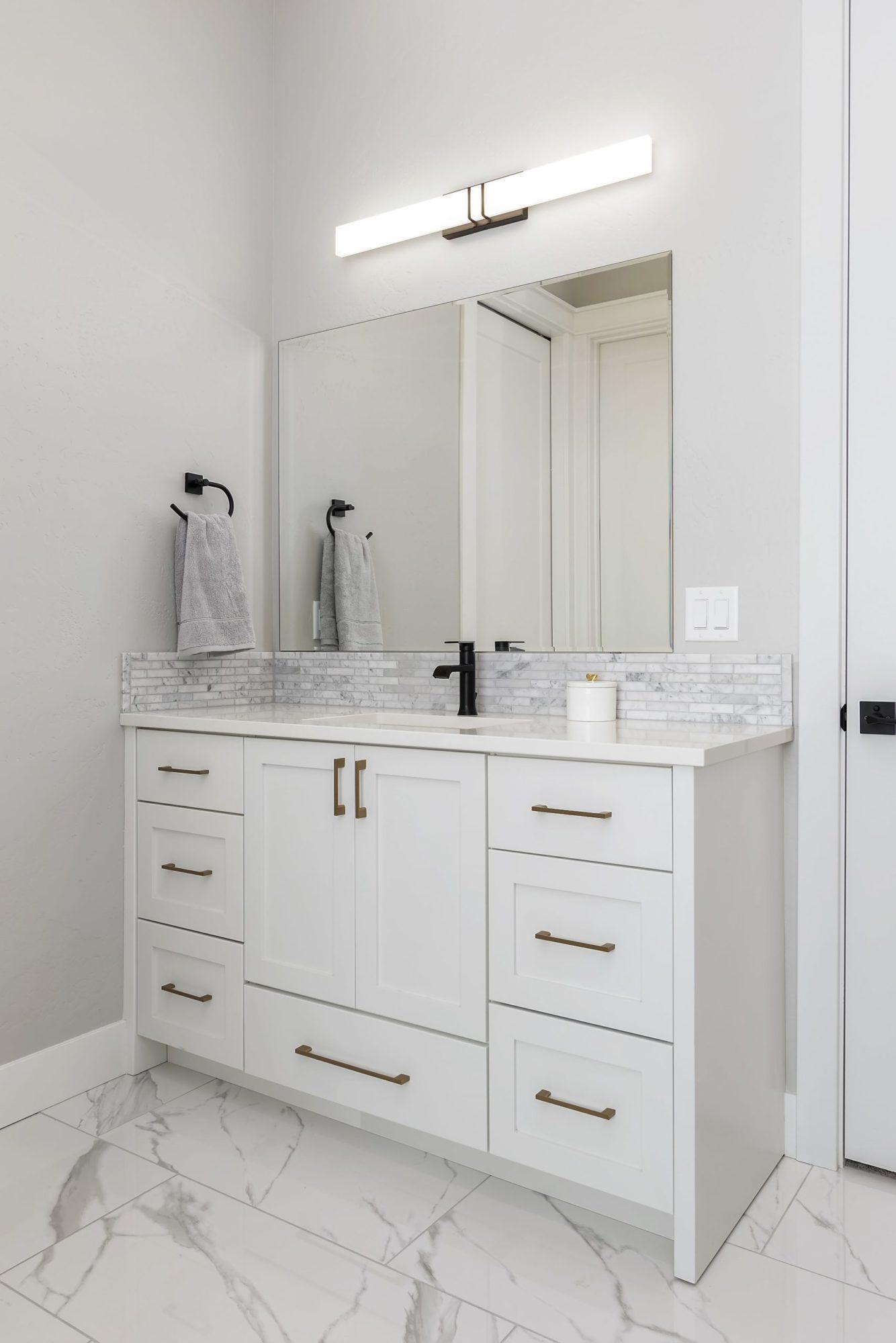 Beautiful custom bathroom cabinets